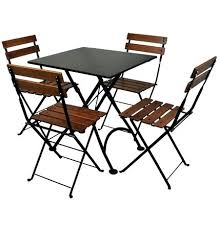 small outdoor folding table bistro x inch square steel outdoor folding table black with chairs small