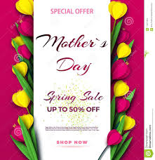 Paper Flower Business Spring Sale S Banner Template With Paper Flower On Colorful