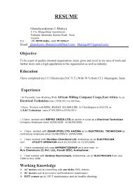 Electrician Cv Format Pdf Infoe Link