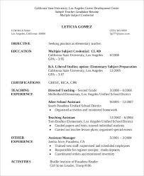 Sample Teacher Candidate Resume