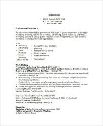 Freelance Marketing Consultant Resume Marketing Resume Samples For