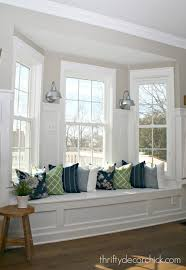 Kitchen Window Seat Adding Some Color To The Kitchen From Thrifty Decor Chick