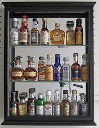 solid wood mini liquor bottle display