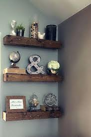 modern brown floating shelf wall wooden design idea living room rustic get two for above toilet
