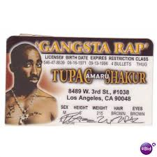License Fame Death Shakur Tupac Mama Drivers On Ireland 64046483 Ebid Dear Of Rapper Fun Row Novelty
