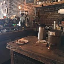 photo of black brick brooklyn ny united states coffee counter