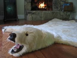 soft and glamorous white faux polar bearskin rug limited edition 26