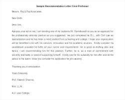 Free Sample Recommendation Letter Recommendation Letter Sample Free