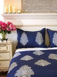 blue pillow shams. Brilliant Shams Navy Blue Pillow Sham White Paisley Sham Cover Coordinating   Saffron Marigold In Pillow Shams S