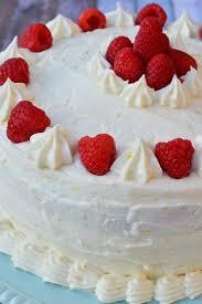 Gluten Free Vanilla Cake With Raspberry Filling And Meyer Lemon