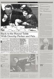 back to the round table with dorothy parker and pals