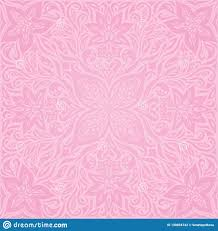 Wedding Photo Background Floral Pink Vector Wallpaper Trendy Fashion Mandala Design