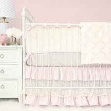 Blake's Vintage Pink Linen & Lace Crib Bedding