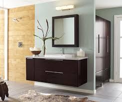 wall mounted bathroom vanity in dark
