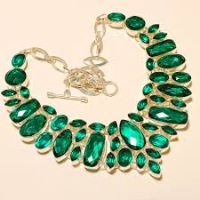 designer chrome diopside 925 silver jewelry necklace