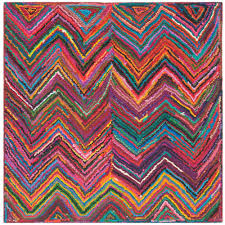 safavieh nantucket pink multi 6 ft x 6 ft square area rug nan141a 6sq the home depot