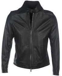 hugo boss leather jacket nokam in black