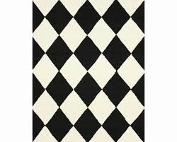 wonderful black and white checd rug lovely area intended for plans 15