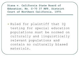Diana V State Board Of Education Diana V California State Board Of Education 1970