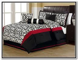 red and black queen comforter set bedroom sets interior design 18