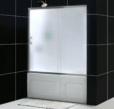 infinity tub door with frosted glass bathtub enclosures frameless shower
