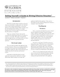 Resume Writing Cover Letter