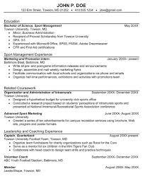 Sample Sports Resume Download Sport Management Sample Resume For Free Formtemplate