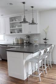 Modern White Kitchen Cabinets With Grey Countertops Home Design Ideas
