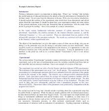 Example Of A Lab Report Chemistry Lab Report Template Format Basic Example Bodiesinmotion Co