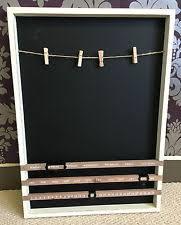 Black Chalk Board Wall Kitchen Memo Reminder Planner Shabby Chic Vintage
