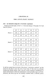 Split Plot Design Example Chapter 20 The Split Plot Design