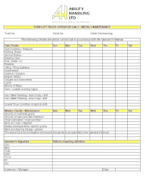 Office Maintenance Checklist Template Equipment Inspection