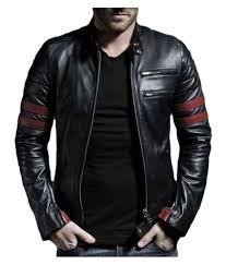 leather retail black biker jacket
