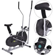 fan exercise bike. 2 in 1 elliptical fan bike cross trainer machine - exercise bikes cardio machines \u0026 fitness sporting goods