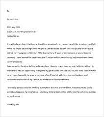 Job Resignation Letter Template Free 14 Job Resignation Letter Templates In Pdf Doc