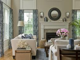 Two Story Living Room Curtains Gray Curtains With Beige Walls Living Room Gray Stone Fireplace
