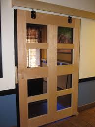 custom made maple sliding barn door