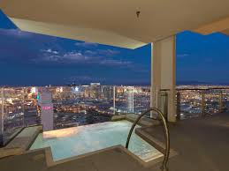 Las Vegas Hotels With 2 Bedroom Suites On The Strip Palms Place Penthouse Hanging Jacuzzi On 57th Floor Pretty