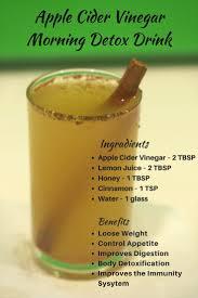Apple Cider Vinegar Morning Detox Drink for Weight Loss,reduce the acid  reflux, diabetes