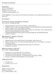 Warehouse Clerk Resume New Job Resume Samples Warehouse Clerk Resume Sample Job Resume Samples