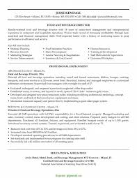casino manager resumes food and beverage resume template literarywondrous foodr