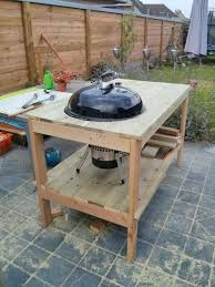 diy grill table diy weber grill side table