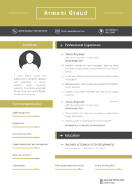 Engineering Resume Simple Engineering Resume Templates Can Help You Avoid Mistakes In CV