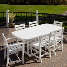 outdoor furniture white. White Wooden Dining Set By Trex Outdoor Furniture For Cozy Ideas