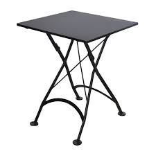 outdoor metal table. French Café Bistro Folding Table / Jet Black Frame 24\ Outdoor Metal O