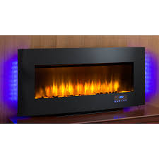 40 in w 4 600 btu black metal wall mount infrared quartz electric fireplace with thermostat and remote