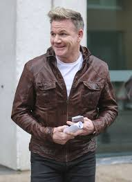 gordon ramsay attempts to dress like david beckham in tight leather jacket but fails mirror
