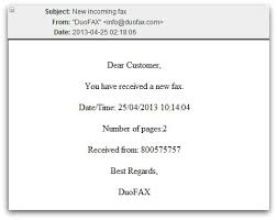 Example Of A Fax Message Fax Message Example