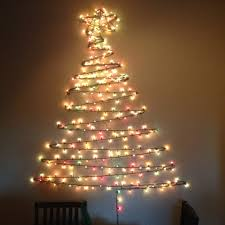 Wall Christmas Trees 11 Creative Last Minute Christmas Trees That Take Less Time Than