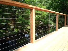 wire deck railing ultra cable modern other home depot wire deck railing